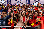 Fans of Vietnam cheer during the AFC Asian Cup UAE 2019 Round of 16 match between Jordan (JOR) and Vietnam (VIE) at Al Maktoum Stadium on 20 January 2019 in Dubai, United Arab Emirates. Photo by Marcio Rodrigo Machado / Power Sport Images