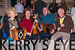 Brid O'Shea, Bridget Fox, Mick Fleming and Matt Mooney getting the toes tapping  at the Rambling House in the Killarney Mens Shed last Thursday night