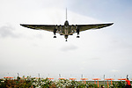 Pix: Shaun Flannery/shaunflanneryphotography.com...COPYRIGHT PICTURE>>SHAUN FLANNERY>01302-570814>>07778315553>>..26th April 2011.......Crew Currency Flight. .Vulcan XH558 on the approach into Robin Hood Airport Doncaster Sheffield.