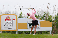 Paula Creamer (USA) tees off on the 3rd hole during the final round of the ShopRite LPGA Classic presented by Acer, Seaview Bay Club, Galloway, New Jersey, USA. 6/10/18.<br /> Picture: Golffile | Brian Spurlock<br /> <br /> <br /> All photo usage must carry mandatory copyright credit (&copy; Golffile | Brian Spurlock)