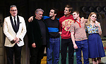 "Moises Kaufman, Harvey Fierstein, Michael Urie, Ward Horton, Jack DiFalco and Roxanna Hope Radja  during the Broadway Opening Night Curtain Call for ""Torch Song"" at the Hayes Theater on November 1, 2018 in New York City."