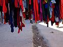 iraq 2006 .In the old market of Suleimania, tights.Irak 2006.Dans le marche de la vieille ville de Souleimania, exposition de collants dans la rue