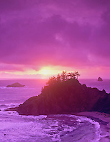 Sunset at Boardman State Park, Oregon.