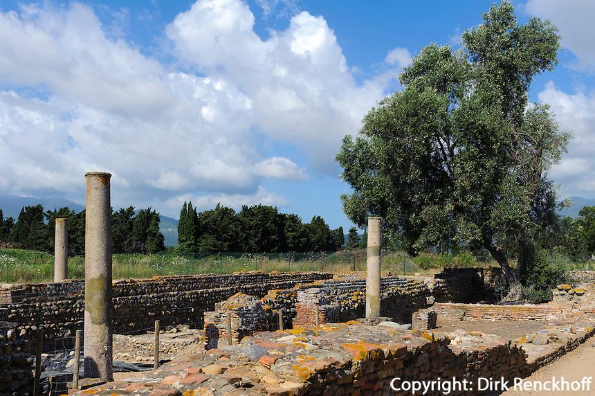 Frühchristliche Ausgrabungen neben La Canonica  bei Bastia, Korsika, Frankreich