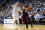 18 January 2015: Virginia Tech's Jalen Hudson (23) and North Carolina's Justin Jackson (44). The University of North Carolina Tar Heels played the Virginia Tech University Hokies in an NCAA Division I Men's basketball game at the Dean E. Smith Center in Chapel Hill, North Carolina. UNC won the game 68-53.