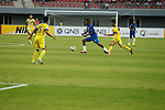 Yadanarbon vs Global FC during the 2015 AFC Cup 2015 Group G match on March 03, 2015 at the Mandalar Thiri Stadium in Mandalay, Myanmar. Photo by Stringer / World Sport Group