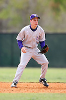 February 22, 2009:  Second baseman Trevor Stevens (3) of Northwestern University during the Big East-Big Ten Challenge at Naimoli Complex in St. Petersburg, FL.  Photo by:  Mike Janes/Four Seam Images