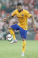 FC Barcelona's Daniel Alves during Supercup of Spain 1st match.August 14,2015. (ALTERPHOTOS/Acero)