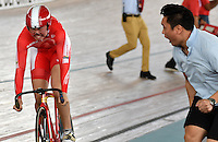 CALI – COLOMBIA – 17-02-2017: Equipo de Holy Brother Cycling team, en la prueba Velocidad Equipos, damas,  en el Velodromo Alcides Nieto Patiño, sede de la III Valida de la Copa Mundo UCI de Pista de Cali 2017. / Holy Brother Cycling team women in the Team Sprint Race at the Alcides Nieto Patiño Velodrome, home of the III Valid of the World Cup UCI de Cali Track 2017. Photo: VizzorImage / Luis Ramirez / Staff.
