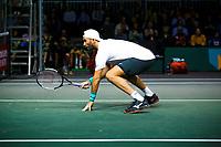 Rotterdam, The Netherlands, 10 Februari 2020, ABNAMRO World Tennis Tournament, Ahoy, Jean-Julien Royer (NED) and Horia Tecau (ROU), Stefanos Tsitsipas (GRE) and Nenand Zimonjic (SRB).<br /> Photo: www.tennisimages.com