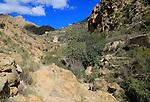 Countryside landscape, near Huebro, Ruta del Agua, Sierra Alhamilla mountains, Nijar, Almeria, Spain