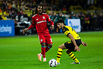 10.11.2018, Signal Iduna Park, Dortmund, GER, 1.FBL, Borussia Dortmund vs FC Bayern M&uuml;nchen, DFL REGULATIONS PROHIBIT ANY USE OF PHOTOGRAPHS AS IMAGE SEQUENCES AND/OR QUASI-VIDEO<br /> <br /> im Bild | picture shows:<br /> Renato Sanches (Bayern #35) mit Mahmoud Dahoud (Borussia Dortmund #19), <br /> <br /> Foto &copy; nordphoto / Rauch