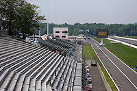 May 29, 2013; Englishtown, NJ, USA: Overall view of the grandstands at Raceway Park. Mandatory Credit: Mark J. Rebilas-