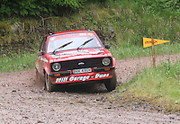 Mike Horne / Robbie Mitchell at Junction 12 on Special Stage 2 Windy Hill of the 2012 RSAC Scottish Rally supported by Dumfries and Galloway Council, Round 5 of the RAC MSA Scottish Rally Championship which was based in Dumfries on 30.6.12.
