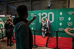 07.02.2019, Alte Werft, Bremen, GER, 1.FBL, 120 Jahre SV Werder Bremen - 120 Jahre Lauter - das Konzert<br /> <br /> im Bild<br /> die Halle füllt sich vor Konzertbeginn, Feature, Fans fotografieren sich vor der 120 Jahre Wand, <br /> <br /> Der Fussballverein SV Werder Bremen feiert sein 120-jähriges Bestehen. In der Alten Werft Bremen findet anläßlich des Jubiläums ein Konzert für Fans statt. <br /> <br /> Foto © nordphoto / Ewert
