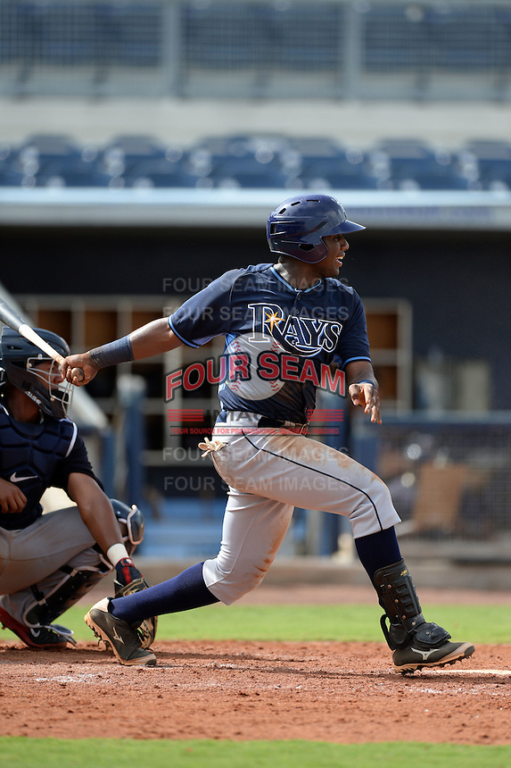 Tampa Bay Rays first baseman Gilbert Marrero (92) during an Instructional League game against the Minnesota Twins on September 16, 2014 at Charlotte Sports Park in Port Charlotte, Florida.  (Mike Janes/Four Seam Images)