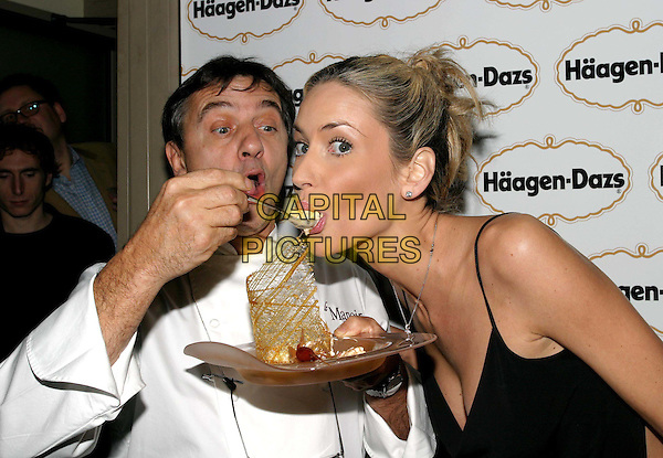 RAYMOND BLANC & LISA BUTCHER.Haagen Dazs party to celebrate new ice-cream flavours - Haagen Dazs Lounge, Leicester Square.eating, food, icecream.www.capitalpictures.com.sales@capitalpictures.com.© Capital Pictures.