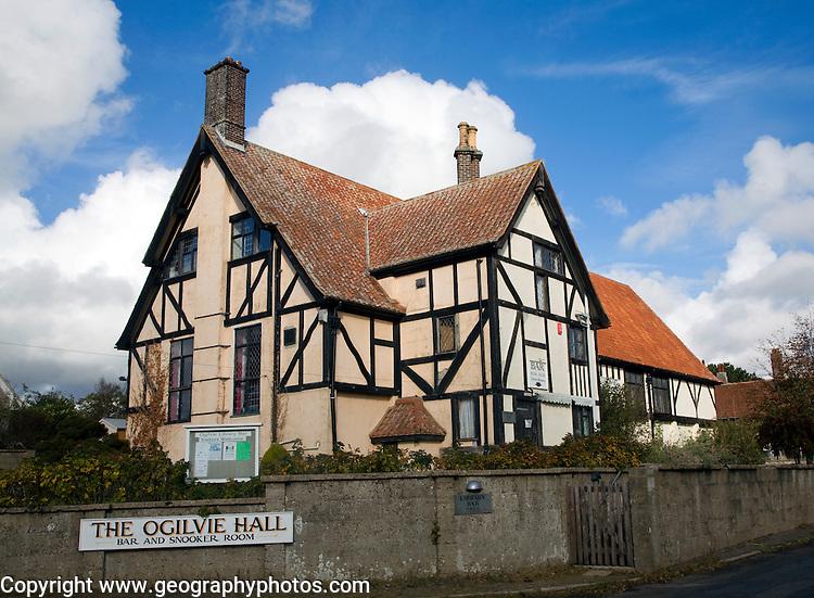 Ogilvie Hall mock Tudor bar and social club building, Thorpeness, Suffolk, England