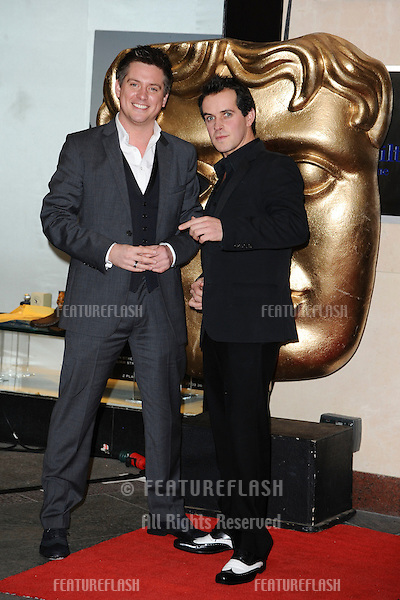 Dick and Dom arriving for the BAFTA Children's Awards 2011 at the Hilton Park Lane, London. 27/11/2011 Picture by: Steve Vas / Featureflash