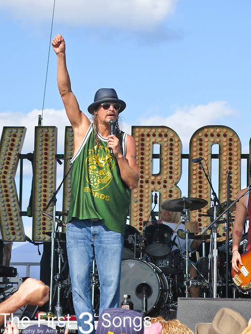 Kid Rock (Robert Ritchie) performs with the Twisted Brown Trucker Band during the 2013 Kid Rock's 4th Annual Chillin' the Most Cruise. The cruise left Miami, Florida on March 6,  2013 sailing to Grand Stirrup Cay (Bahamas) and returned to Miami on March 10, 2013. The event, produced by Sixthman, featured performances by Kid Rock and other musical artists.