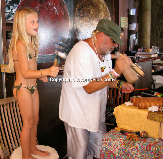 **EXCLUSIVE**.Swedish Actor Dolph Lundgren's daughter Greta, 7 dancing..Do Brazil Restaurant..St. Barth, Caribbean..Thursday January 02, 2009..Photo By Celebrityvibe.com..To license this image please call (212) 410 5354; or Email: celebrityvibe@gmail.com ;.website: www.celebrityvibe.com