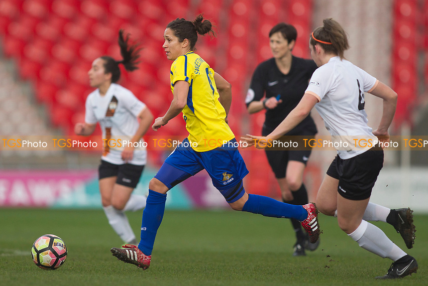 Courtney Sweetman Kirk (Belles) during Doncaster Rovers Belles vs London Bees, FA Women's Super League FA WSL2 Football at the Keepmoat Stadium on 12th March 2017