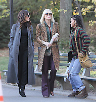 NEW YORK, NY November 07:Sandra Bullock, Cate Blanchett, Rihanna, shooting on location for Ocean 8 in Central Park New York .November 07, 2016. Credit:RW/MediaPunch