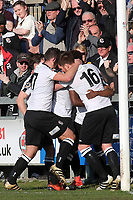 Dartford players congratulate Darren McQueen after scoring their opening goal during Dartford vs Woking, Vanarama National League South Football at Princes Park on 23rd February 2019