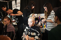 NYC Fashion Week FW 14 Backstage at Herve Leger