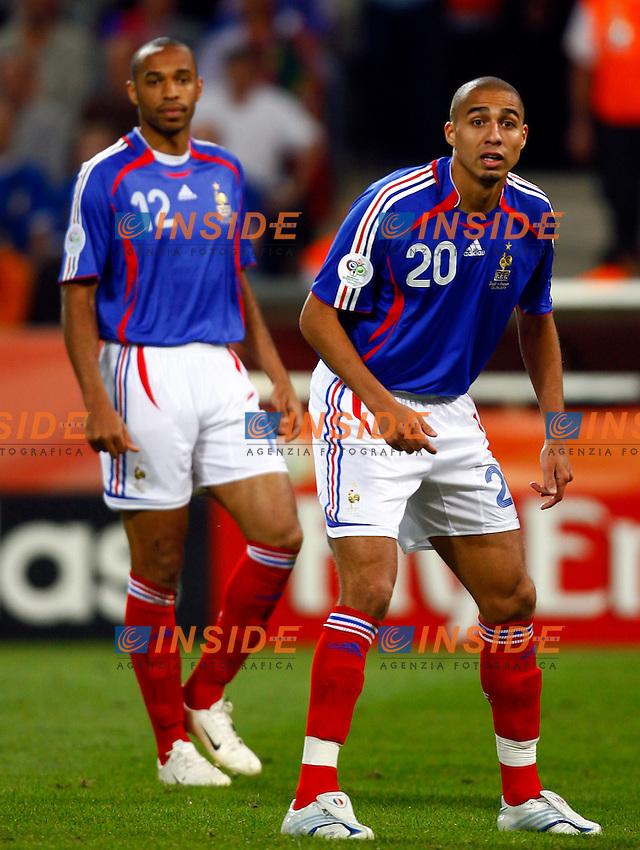 Colonia 23/6/2006 World Cup 2006.Togo Francia 0-2.Photo Andrea Staccioli Insidefoto.David Trezeguet e Thierry Henry Francia