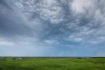 Storm clouds at Wellfleet Bay Audubon Sanctuary in Wellfleet, Cape Cod, MA, USA