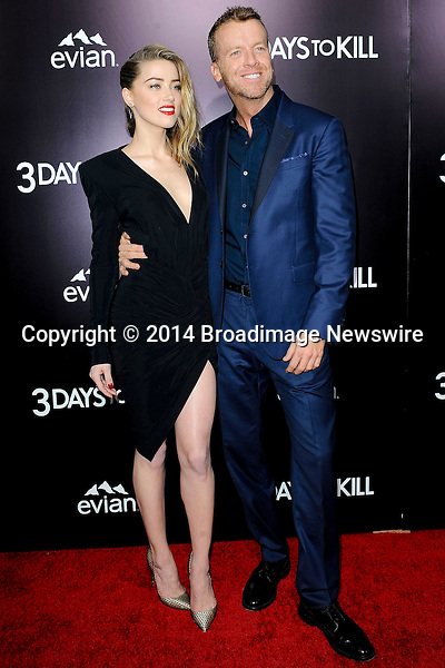 Pictured: Amber Heard, McG<br /> Mandatory Credit &copy; Adhemar Sburlati/Broadimage<br /> Film Premiere of 3 Days to Kill<br /> <br /> 2/12/14, Los Angeles, California, United States of America<br /> <br /> Broadimage Newswire<br /> Los Angeles 1+  (310) 301-1027<br /> New York      1+  (646) 827-9134<br /> sales@broadimage.com<br /> http://www.broadimage.com
