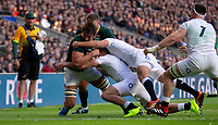 South Africa's Eben Etzebeth in action during todays match<br /> <br /> Photographer Bob Bradford/CameraSport<br /> <br /> Quilter Internationals - England v South Africa - Saturday 3rd November 2018 - Twickenham Stadium - London<br /> <br /> World Copyright © 2018 CameraSport. All rights reserved. 43 Linden Ave. Countesthorpe. Leicester. England. LE8 5PG - Tel: +44 (0) 116 277 4147 - admin@camerasport.com - www.camerasport.com