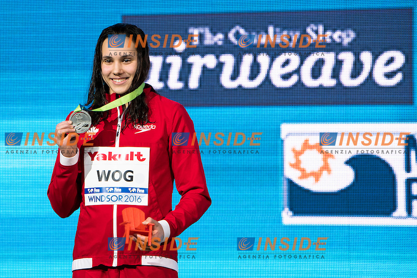 WOG Kelsey Lauren CAN Silver Medal<br /> Women's 200m Breaststroke<br /> 13th Fina World Swimming Championships 25m <br /> Windsor  Dec. 11th, 2016 - Day06 Finals<br /> WFCU Centre - Windsor Ontario Canada CAN <br /> 20161211 WFCU Centre - Windsor Ontario Canada CAN <br /> Photo &copy; Giorgio Scala/Deepbluemedia/Insidefoto