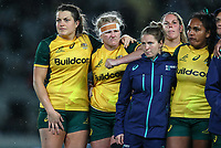 The Wallaroos after the International Women's Rugby match between the New Zealand All Blacks and Australia Wallabies at Eden Park in Auckland, New Zealand on Saturday, 17 August 2019. Photo: Simon Watts / lintottphoto.co.nz