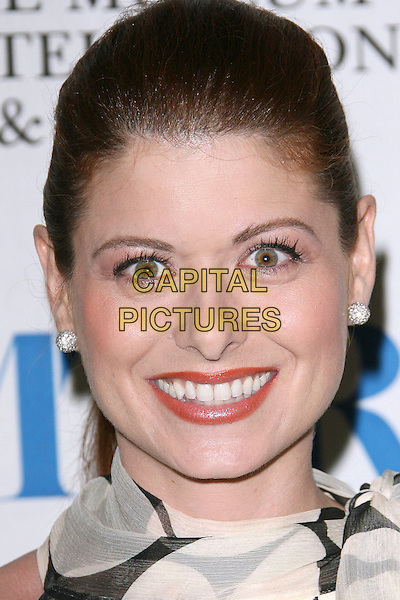 "DEBRA MESSING.Found: ""I Love Lucy: The Movie"" hosted by Debra Messing held at The Museum of Television & Radio, Beverly Hills, California, USA, 6 October 2006..portrait headshot white and black polka dot dress silk chiffon scarf tie neck eye contact eyes to camera.Ref: ADM/ZL.www.capitalpictures.com.sales@capitalpictures.com.©Zach Lipp/AdMedia/Capital Pictures."