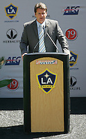 LA Galaxy Head Coach Frank Yallop during the David Beckham, LA Galaxy press conference at the Home Depot Center in Carson, California, Friday, July 13, 2007.