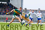 Gavin Crowley  Kerry in action against Dermot Malone Monaghan during the Allianz Football League Division 1 Round 5 match between Kerry and Monaghan at Fitzgerald Stadium in Killarney, on Sunday.
