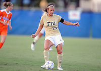 Florida International University women's soccer player Victoria Miliucci (18) plays against the University of Florida on August 21, 2011 at Miami, Florida. Florida won the game 2-0. .