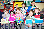 READING: Pupils at Coars school, Cahersiveen receiving certs for taking part in the shared reading programme at the school, front l-r: Rachel O'Connor, Shannon O'Donnell, Rebecca O'Neill, Liam O'Connor, Daniel Devane. Back l-r: David O'Neill, Luke Taylor, Patrick Devane, Jared Barnham.