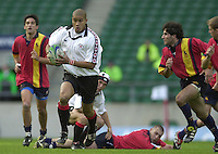 24/05/2002 (Friday).Sport -Rugby Union - London Sevens.Canada vs Spain.Akia Tyler[Mandatory Credit, Peter Spurier/ Intersport Images].