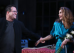 "Michael Mayer and Keri Russell during the Broadway Opening Night Curtain Call for Landford Wilson's ""Burn This""  at Hudson Theatre on April 15, 2019 in New York City."