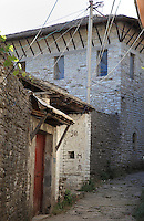 House of Ismael Kadare, Albanian novelist and poet, born 1936, Gjirokastra, Southern Albania. Gjirokastra was settled by the Greek Chaonians, the Romans and Byzantines before becoming an Ottoman city in 1417. Its old town was listed as a UNESCO World Heritage Site in 2005. Picture by Manuel Cohen