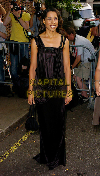 MARGHERITA TAYLOR.The BSQUAREB Summer Ball, Berkeley Square, London, UK..Berkeley Square Ball.July 6th, 2006.Ref: CAN.full length black satin dress purse.www.capitalpictures.com.sales@capitalpictures.com.©Capital Pictures