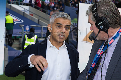 23.10.2016. Twickenham, London, England. NFL International Series. New York Giants versus LA Rams. London mayor Sadiq Khan attended the game.