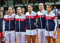 Arena Loire,  Trélazé,  France, 16 April, 2016, Semifinal FedCup, France-Netherlands, Opening ceremony, <br /> Photo: Henk Koster/Tennisimages