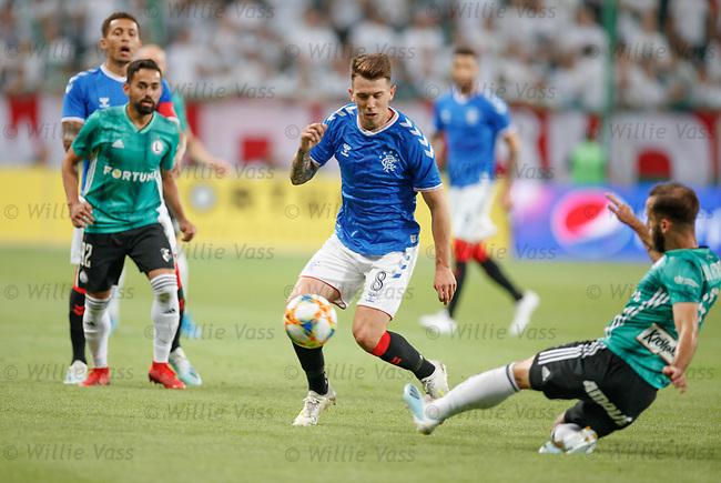 22.08.2019 Legia Warsaw v Rangers: Ryan Jack and Luis Rocha