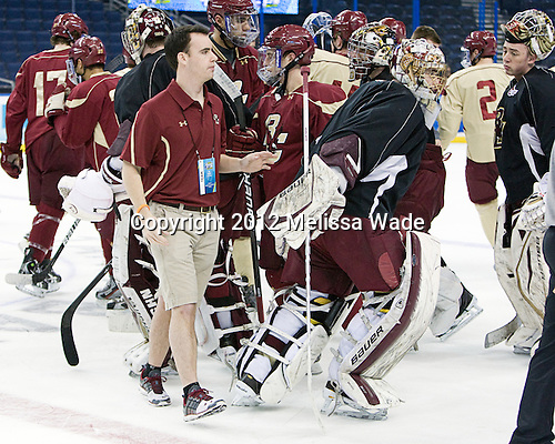 - The Boston College Eagles practiced on Wednesday, April 4, 2012, during the 2012 Frozen Four at the Tampa Bay Times Forum in Tampa, Florida.