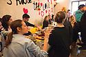 Ambra Medda (foregrounde), creative director, speaks with some journalists during a breakfast at Ristorante Marta, MIlan April 12, 2016. At this restaurant Airbnb have organized Makers &amp; Bakers and curated by Ambra Medda where the press can meet young design talent. &copy; Carlo Cerchioli<br /> <br /> Ambra Medda (in primo piano), dirattore creativo, parla con alcuni giornalisti durante una colazione al ristorante Marta, Milano 12 aprile, 2016. In questo ristorante Airbnb ha organizzato Makers &amp; Bakers una installazione esperienziale curata da Ambra Medda dove la stampa pu&ograve; incontrare alcuni giovani talenti del design internazionale.