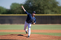 San Diego Padres pitcher Chandler Newman (89) delivers a pitch to the plate during an Instructional League game against the Milwaukee Brewers on September 27, 2017 at Peoria Sports Complex in Peoria, Arizona. (Zachary Lucy/Four Seam Images)